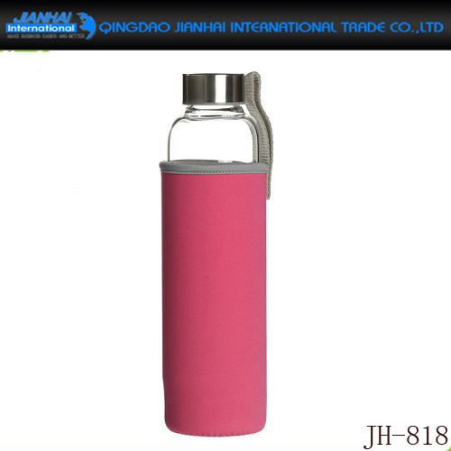Regular Glass Sport Bottle for Water with Sleeve