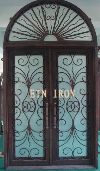 Security doors wrought iron door parts