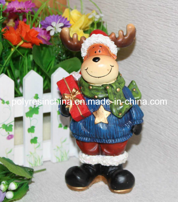 Polystone/Resin/Polyresin Christmas Figurine for Home Decor