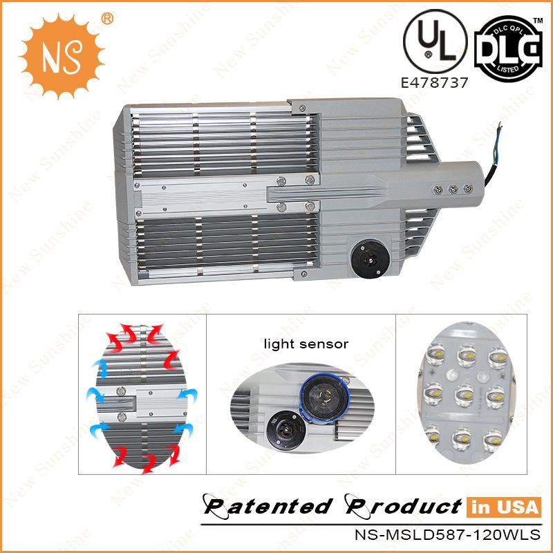 UL Dlc Lm79 120lm/W 120W LED Road Light