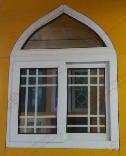 High Grade Vinyl Muslim Arched Window (BHP-SWA07)
