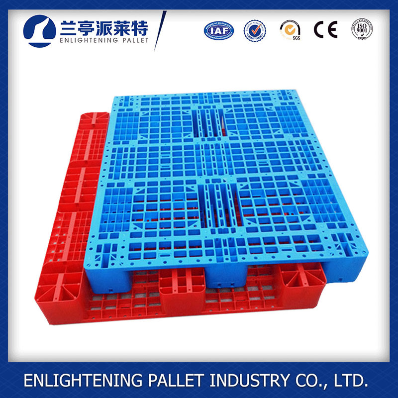 Single Faced Style and 4 Way Entry Type Industrial Plastic Pallet