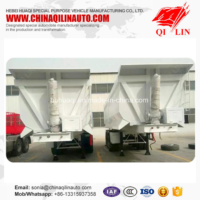 Qilin 30t - 60t Bulk Cargo Transport Self-Discharging Truck Semi Trailer