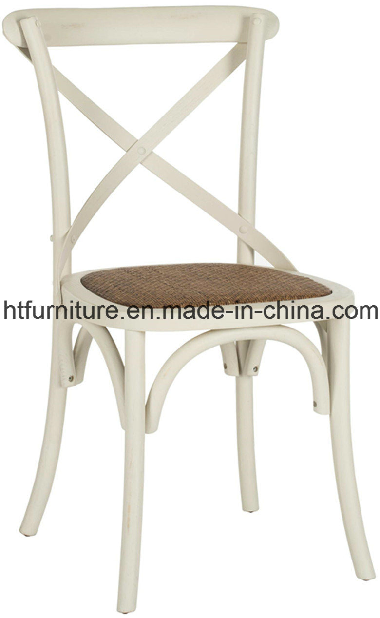 X-Back White Dining Chairs