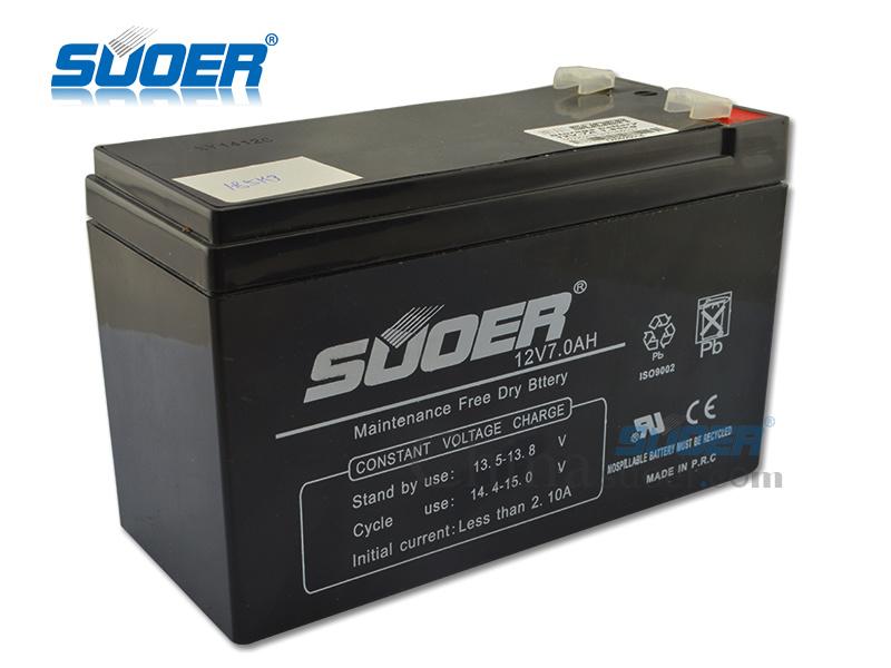 Suoer Hot Maintenance Free Battery 12V 7ah Storage Battery (12V7AH)