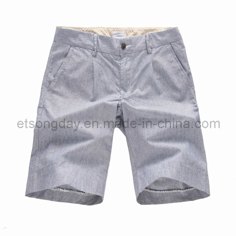 Gray 100% Cotton Men′s Leisure Shorts (GT121368)
