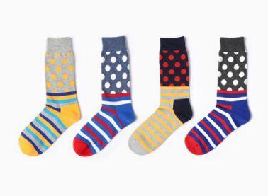 Fashion Unisex Jacquard Cotton Knee High Sock
