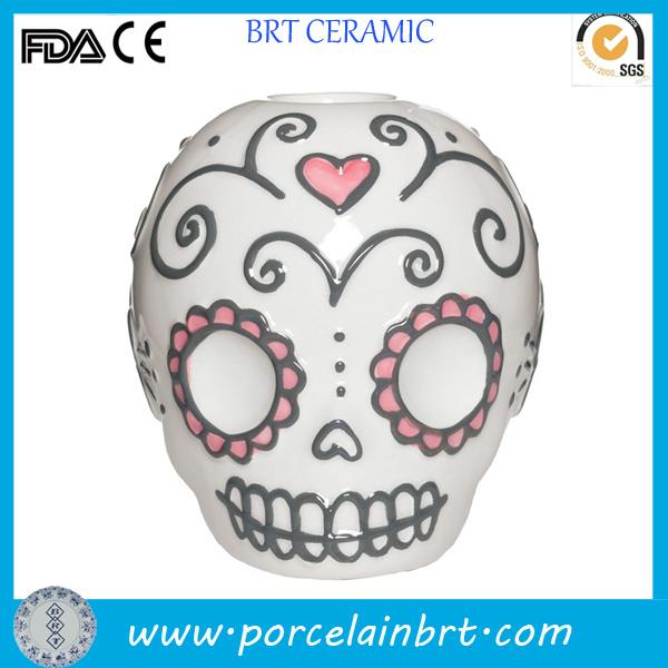 Personalized Custom Horrible Skull Candle Tealight Holder