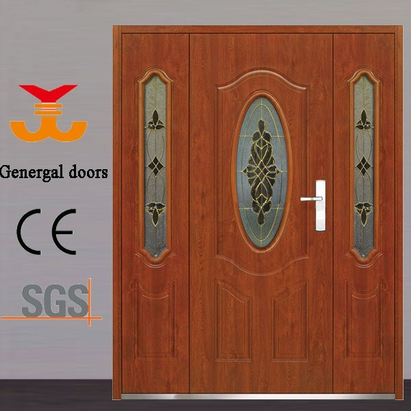 Steel Exterior Metal Door with Glass