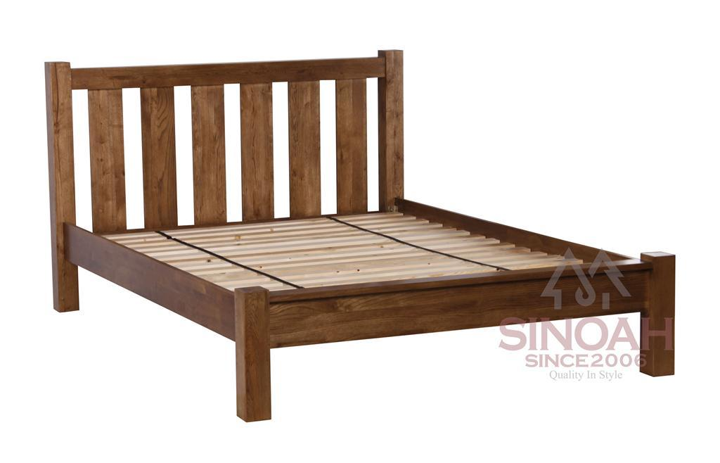 China ′ oak wood bedframe wooden bedroom furniture