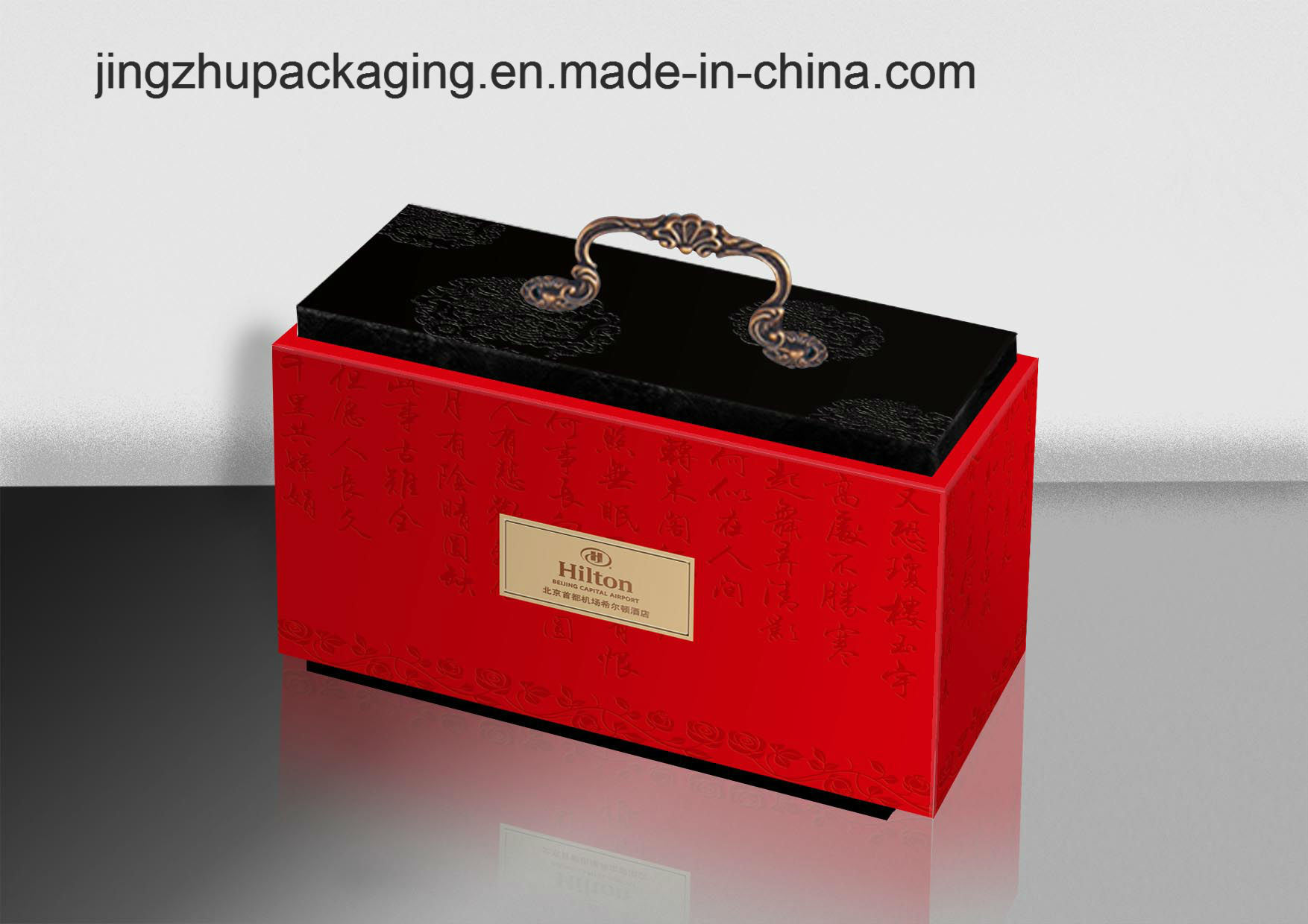 Draw-out Type Moon Cake Packaging Box with Metal Handle