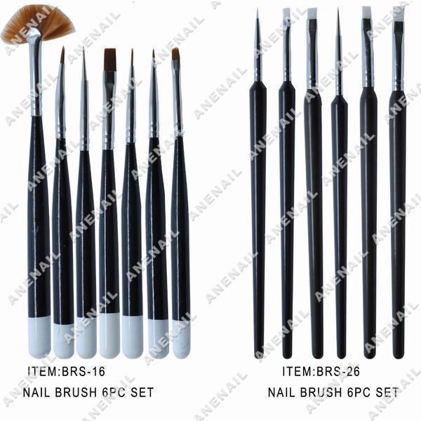 Gel Brush, Brush Set (BRS-16) - China Nail Brushes, Nail Art Brushes
