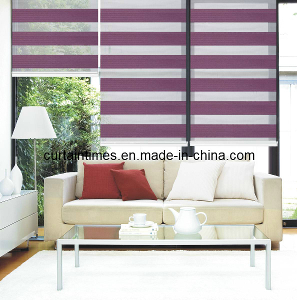 Motorized Zebra Blind/ Popular Electric Day and Night Blind (Curtaintimes)