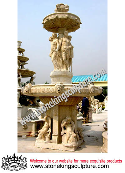 Top Quality Large Marble Fountain for Garden (SK-2424)