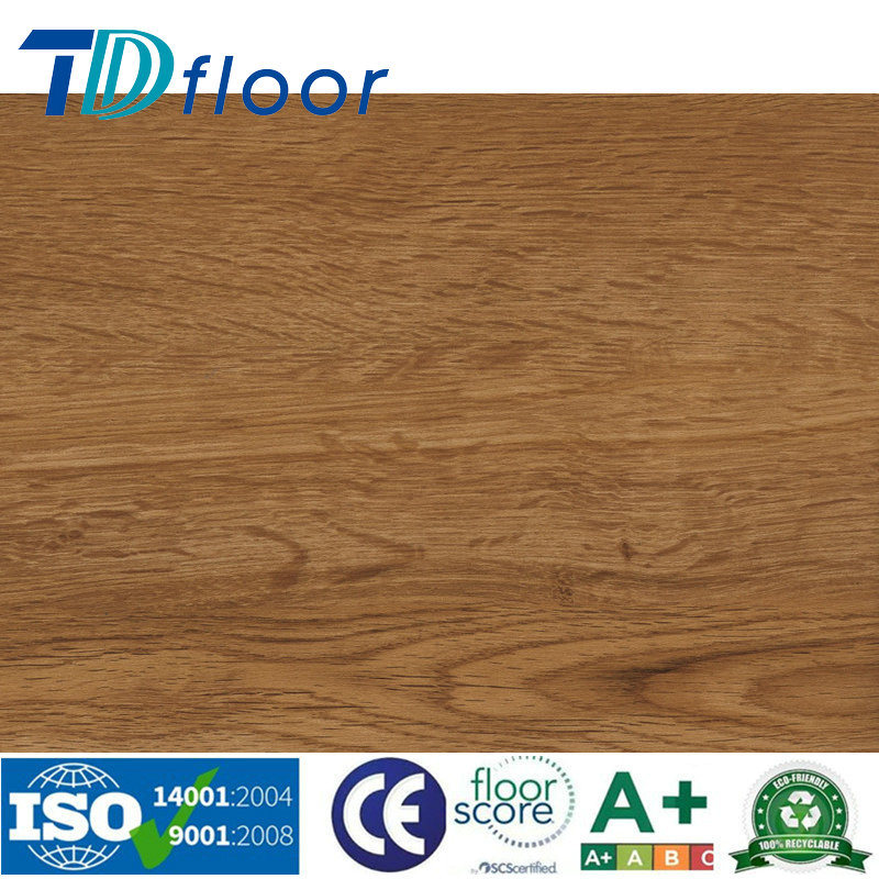 High Quality Stone Wood Design Luxury Vinyl Plank PVC Flooring for Ce Dibt Certificate
