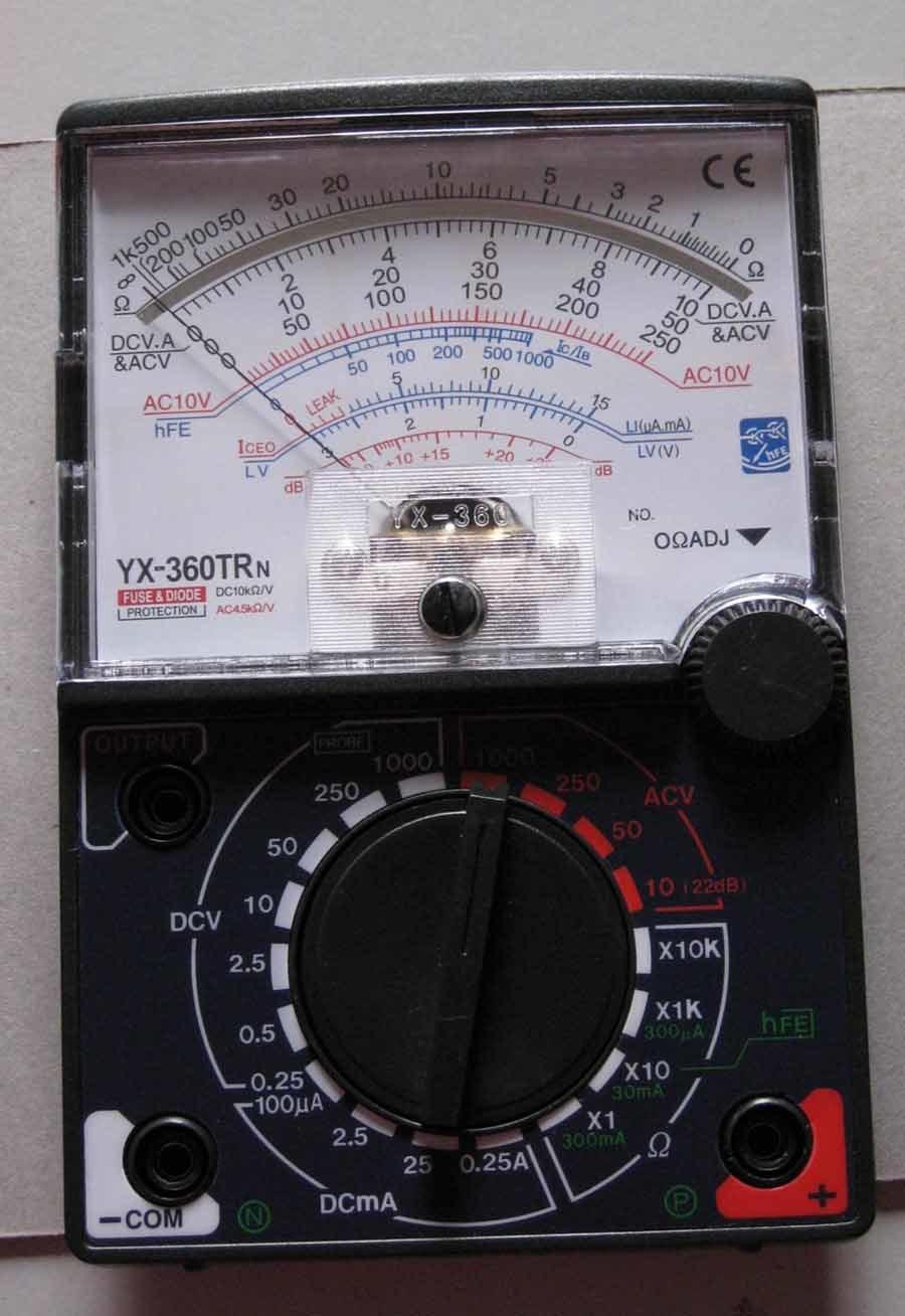 China Multitester Yx 360trn China Multitester Multimeter