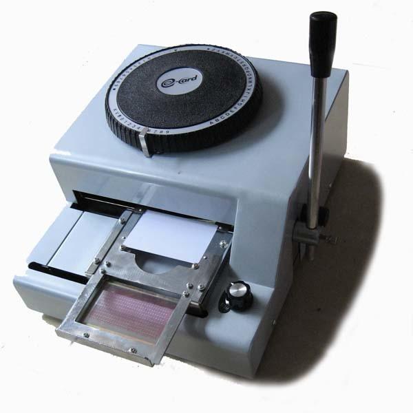 Pvc tipper plastic card manual embosser