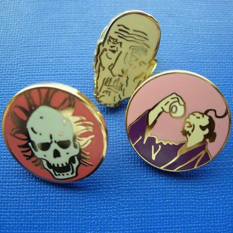 Face Soft Enamel with Colors, Irregular Badge (GZHY-SE-021)
