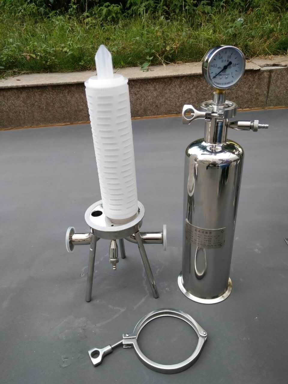 Stainless Steel Single Cartridge Filter Housing Water Filtration