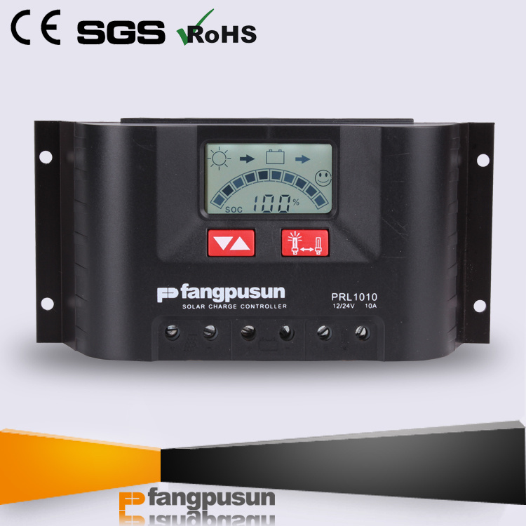 Ce RoHS Fangpusun Solar Home System PWM Control LCD Display 10A 20A 30A Solar Charge Controller