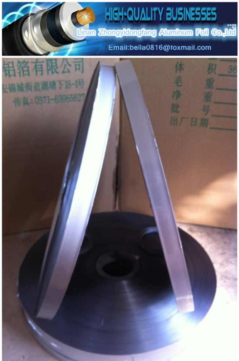 Cable Bonded Aluminum Polyester Foil Aluminum Tape Film Al Pet Emaa+Al / Poly+Al Details