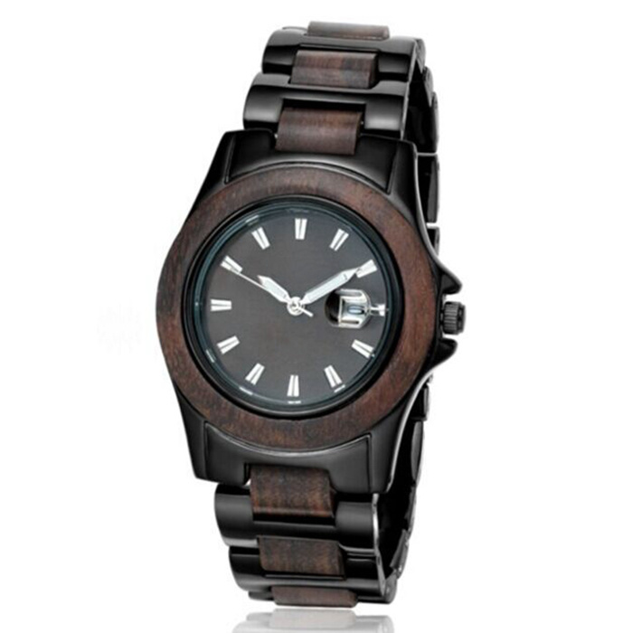 New Environmental Protection Japan Movement Wood-Steel Fashion Watch Bg306