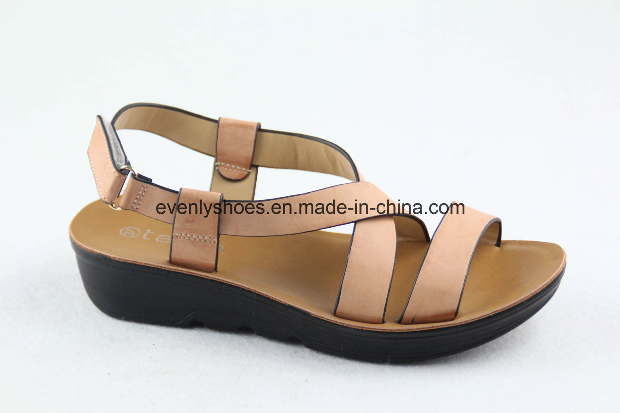Cross Strap Design Women Shoes Flat Sandal for 2016