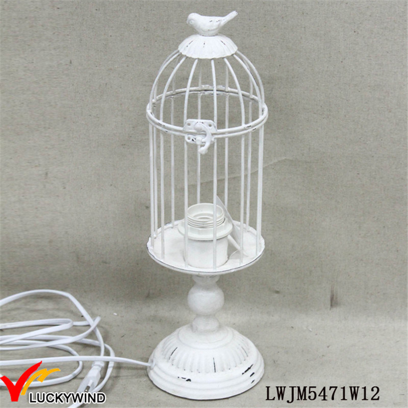 Butterflies Decor Shade Metal Bed Side Iron Vintage Table Lamp