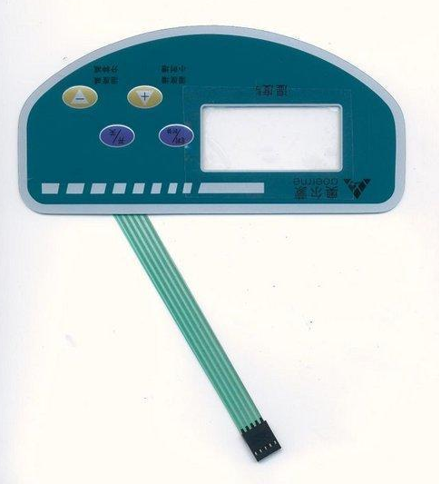 Metal Dome Membrane Switch with LED Window