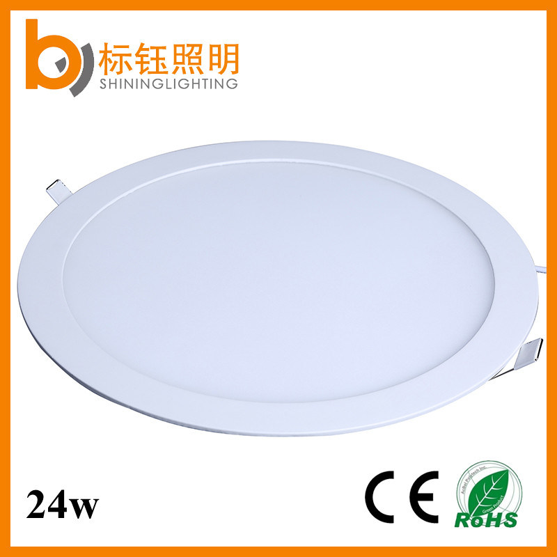 LED Panel Round Light Super Bright Ultrathin LED Recessed Ceiling Lamp 24W Down Lighting