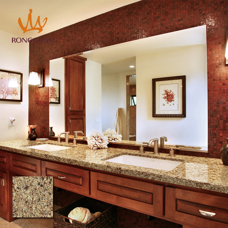 Custom-Made Shape Quartz Countertops for Kitchen Tops Vanity Tops Table Tops
