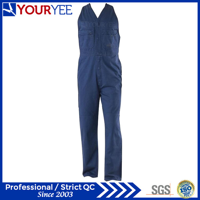 Cotton Drill Heavyweight Womens Workwear Sleeveless Overalls (YBD120)