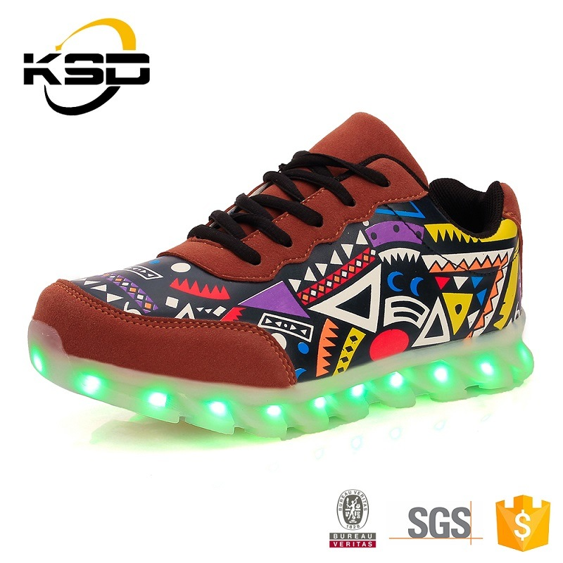 Luminous USB Charging LED Shoes for Men and Women