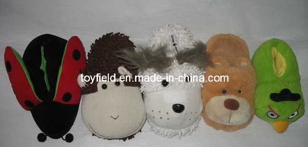 Plush Slipper Shoes Animal Shape