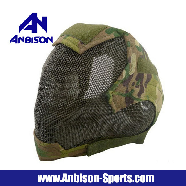 Airsoft Tactical Full Face V6 Strike Mesh Mask