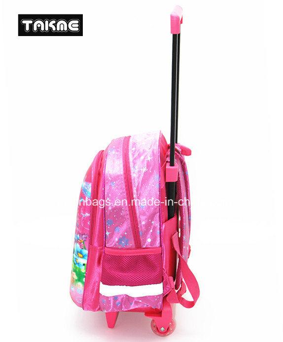 Frozen Princess EVA 3D Printing Trolley Backpack for Children