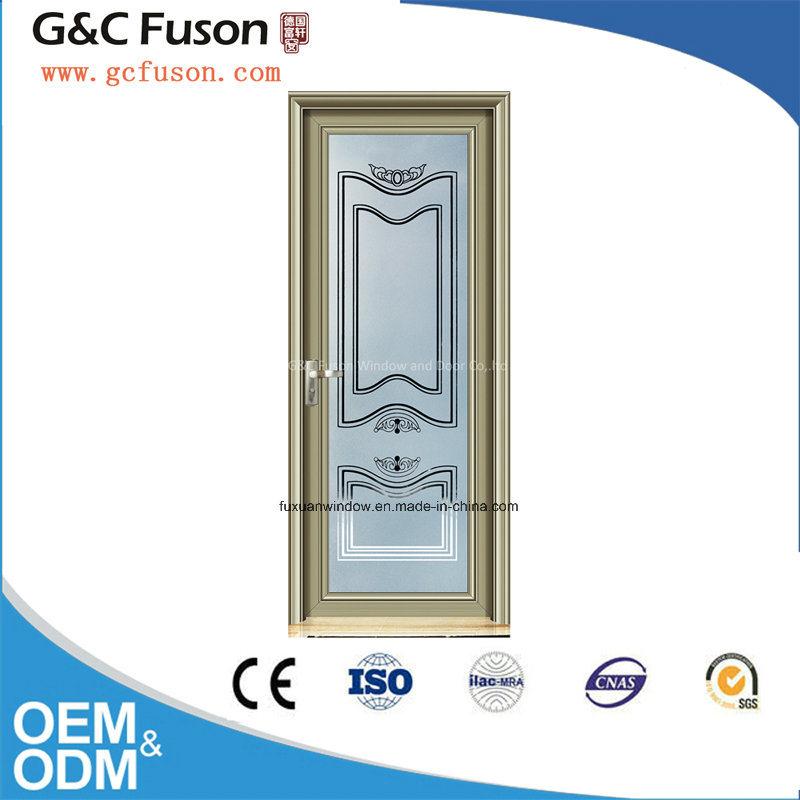 New Design Aluminum Double Tempered Glass Casement Door