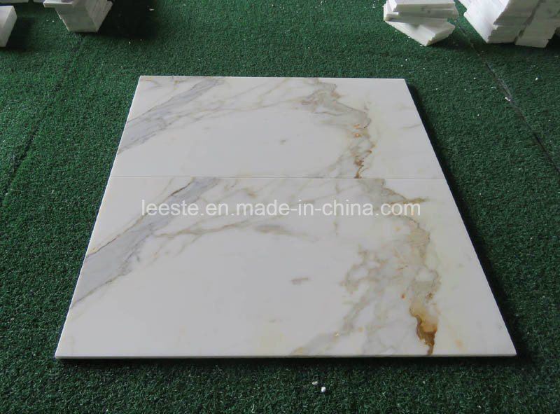 Hot Sell Chinese Calacatta Gold White Marble Tile