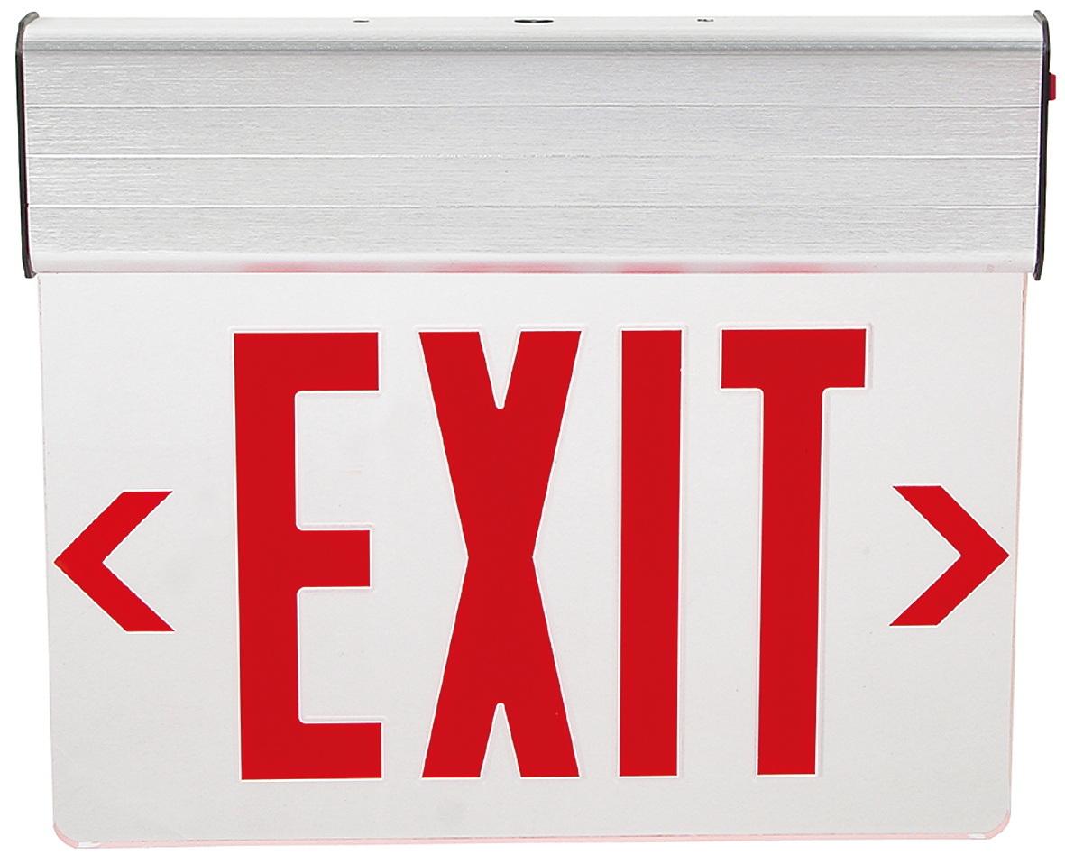 Edge-Lit Transparent Acrylic Panel LED Exit Sign
