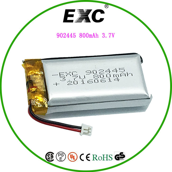 Lithium Polymer 902445 3.7V800mAh Recharge Batteries for Toy Car