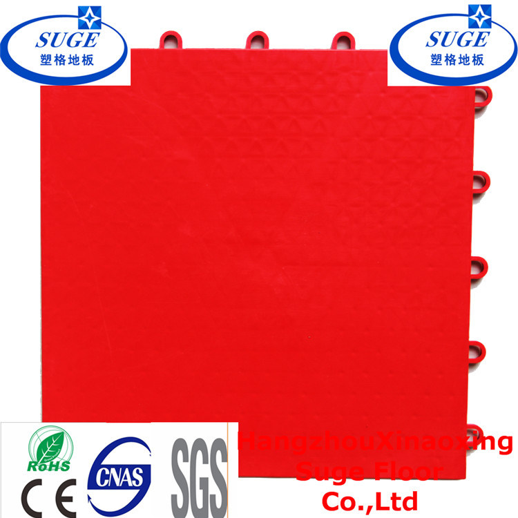 Red Multi-Purpose Suspended Modular Plastic Flooring