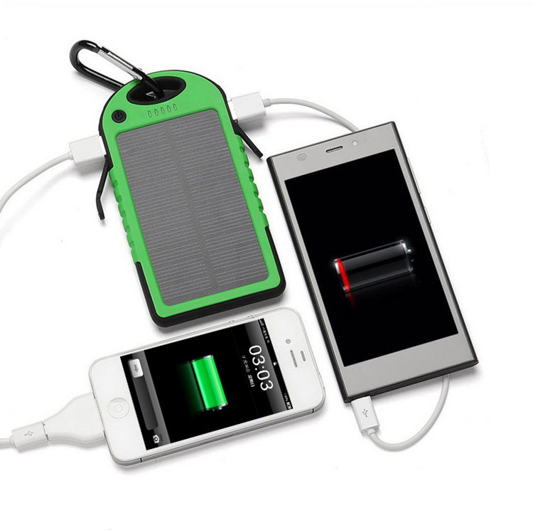 Portable Waterproof/Dustproof / Shakeproof Solar Power Bank with LED Light 4000mAh