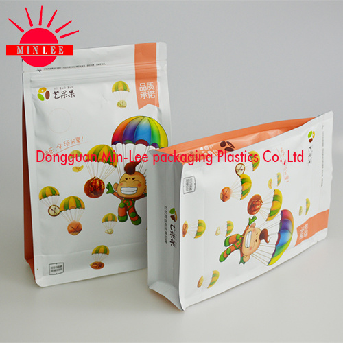Square Flat Bottom Side Gusset Food Packaging Bag with FDA Certification