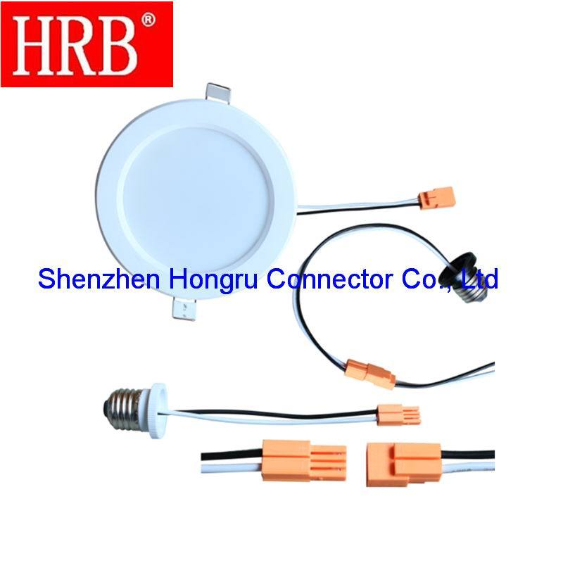 2 Poles Diconnect Lamp Connector of Hrb