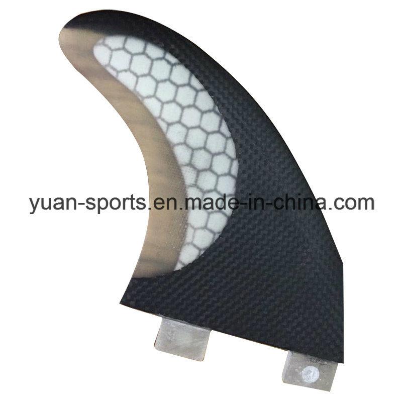 Half Carbon Glassfiber Honeycomb Surf Fin for Surfboard