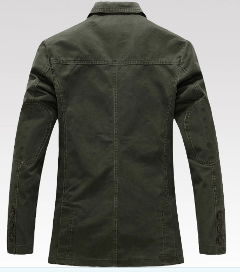 Wholesales OEM Latest Design Men′s Autumn Business Casual Outdoor Washed Cotton Jacket