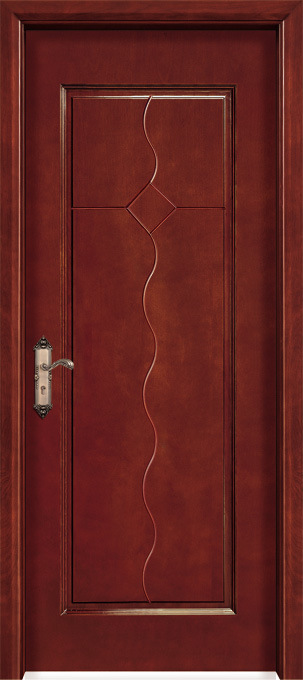 Popular Decorative Timber Wood Entry Door for Home