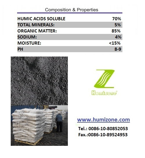 Humizone Organic Fertilizer From Leonardite: Sodium Humate Powder
