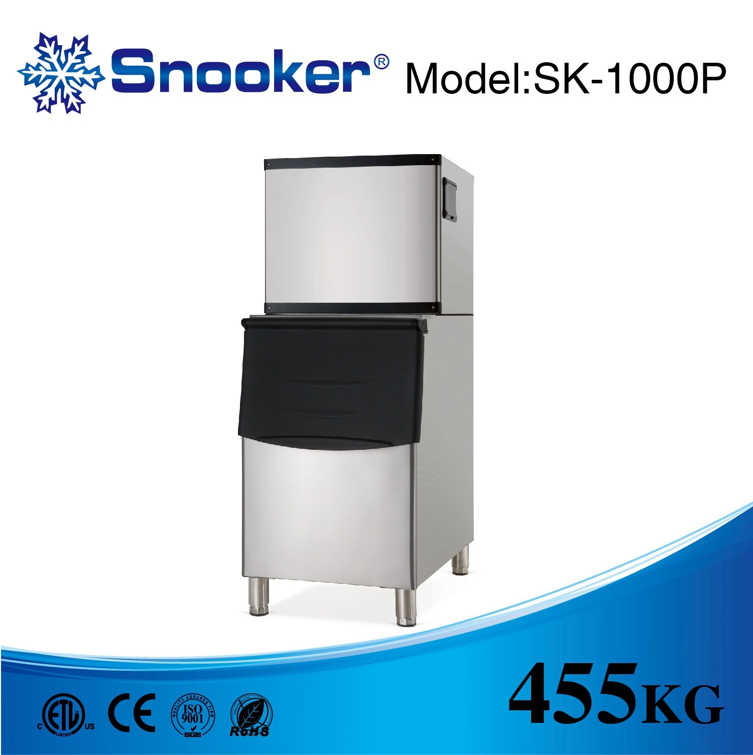 500kg Energy-Saving Sk-1000p Commercial Ice Machine Ice Making Machine