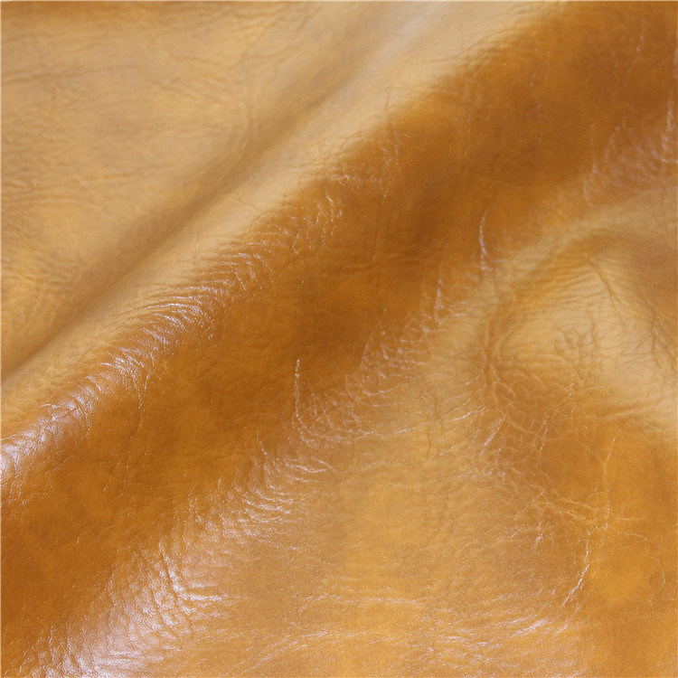 High Abrasion-Resistant Waterproof Furniture Burnished PVC Leather for Used Sofa